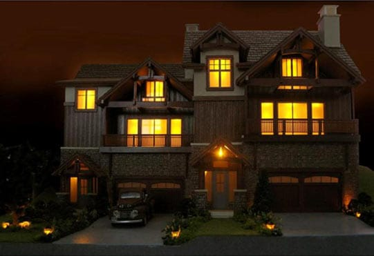 Scale Model House Lighting